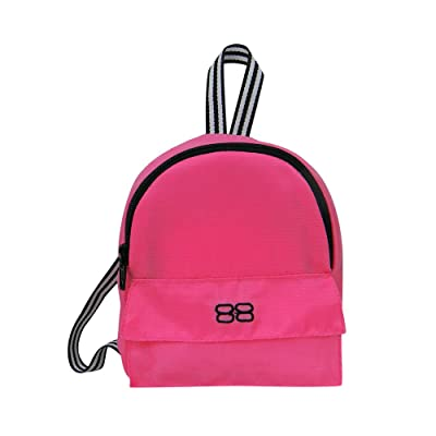 18 Inch Doll Backpack, Sophia's Doll Sized Pink Nylon, Zipper Opening in Hot Pink: Toys & Games