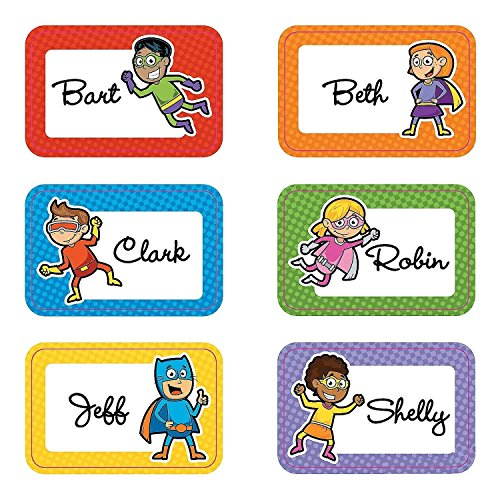 Fun Express Superhero Name Tags (100 Pieces) School Supplies/Stationary/Functions by -