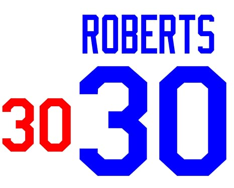 Dave Roberts Los Angeles Dodgers Jersey Number Kit b06508d6034