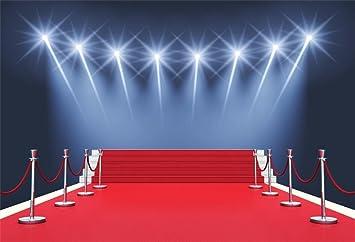 Amazon Com Aofoto 7x5ft Stage Red Carpet Backdrop Star Catwalks Spotlight Photography Background Cine Film Show Event Celebrity Activity Premiere Award Movie Ceremony Photo Studio Props Party Banner Wallpaper Camera