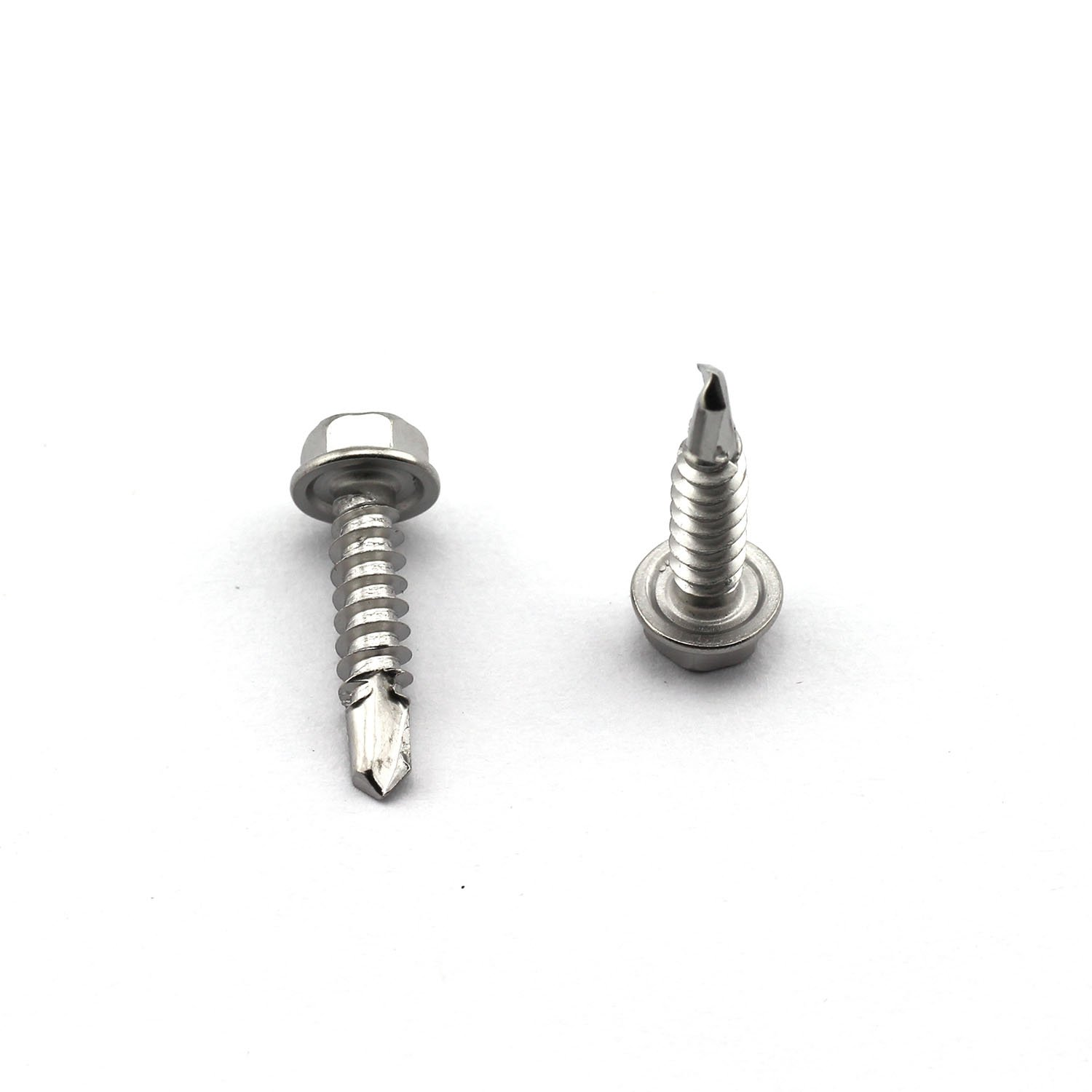 50pcs #8 3 4 Inches Self Drilling Dovetail Screws 410 Stainless Steel Hex Washer Head Tapping Screw Tek Screws