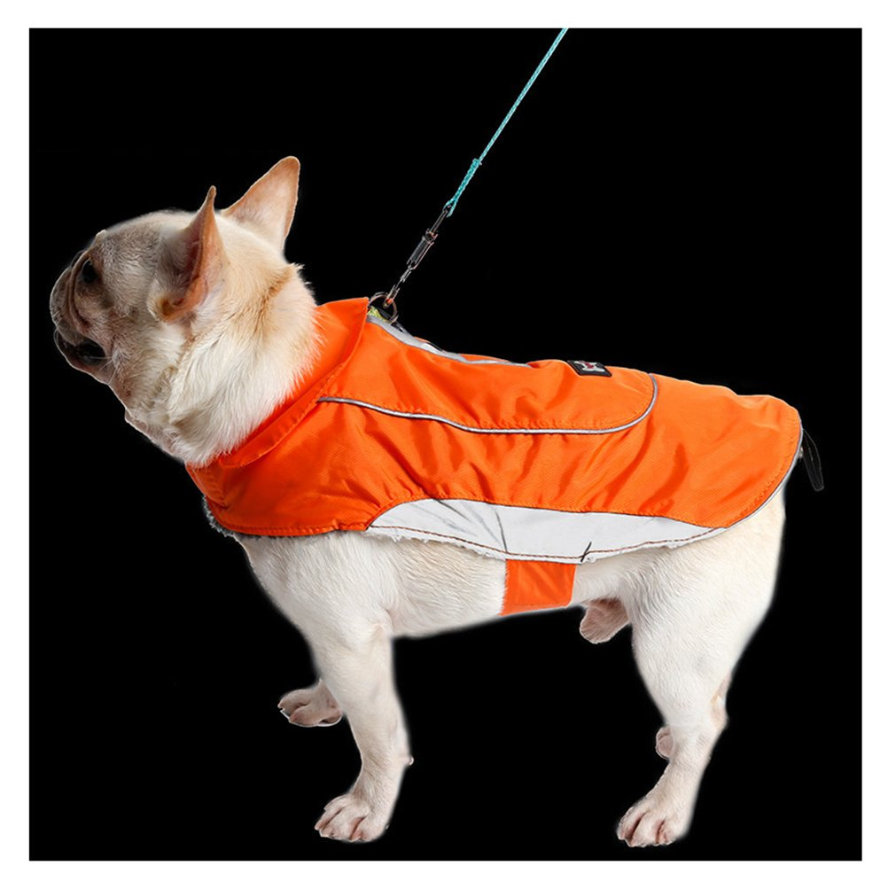 orange XXL orange XXL TDC Dog Jacket Waterproof Pet Clothes Winter Warm Large Dog Coat with Harness Hole