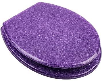 Abattant WC paillettes violet: Amazon.fr: Cuisine & Maison