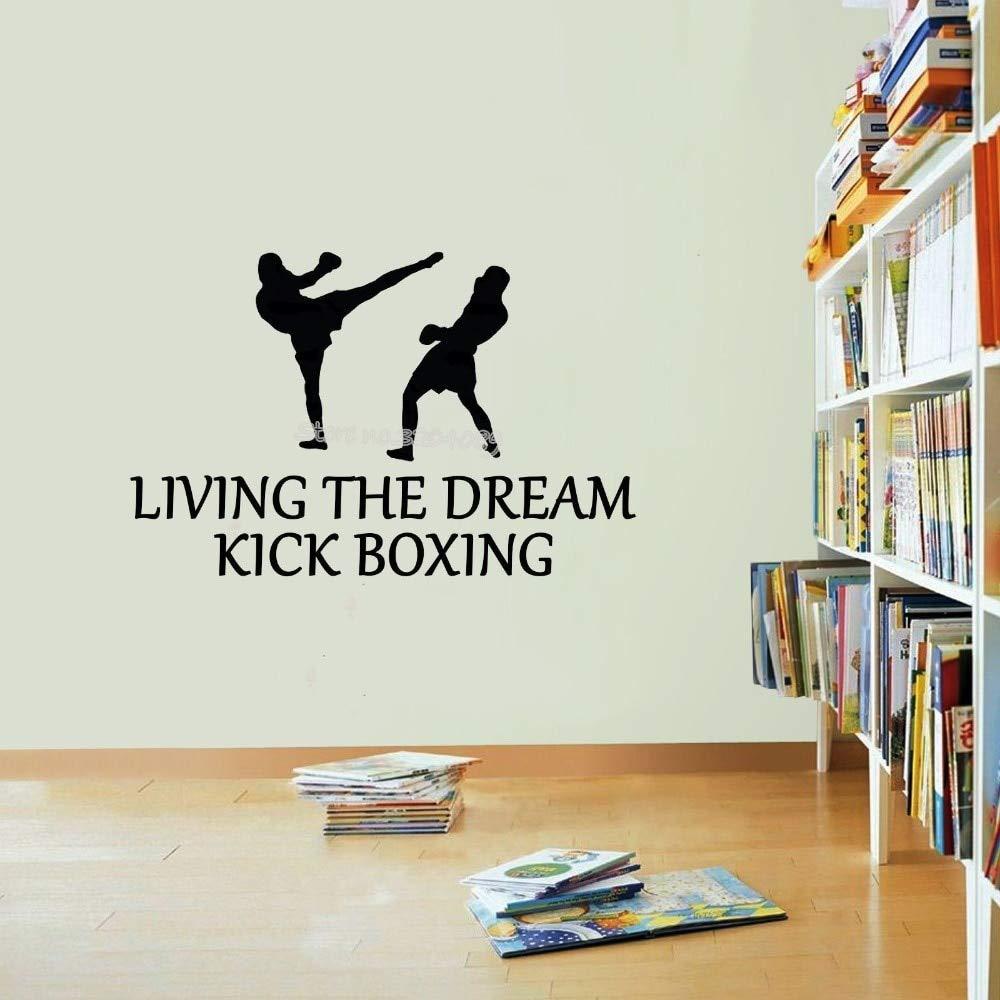 Vivir el sueño kick boxeo cotizaciones etiqueta de la pared ...