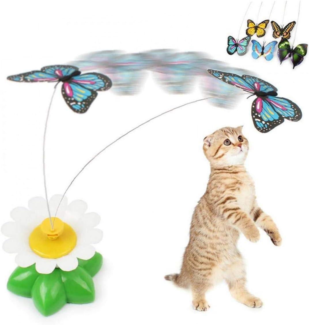 CULER Cat Teaser-Spielzeug Drehende Elektrische Schmetterling Lustige Stahldraht Teaser Spielzeug F/ür Haustiere Welpen Kitten Interaktive Spiel Spielzeug