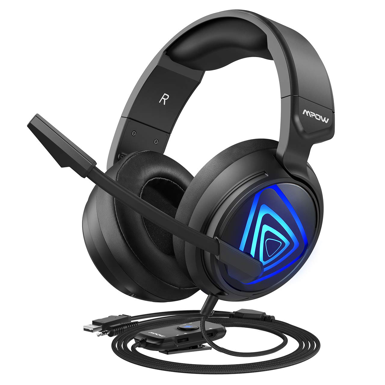 Auriculares Gamer : Mpow EG8 para PC PS4 Xbox One Surround S