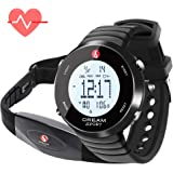 Dream Sport Heart Rate Monitor Watch with Chest Strap and Pedometer Step Counter Fitness Tracker Stop Watch/Dual Alarm/Calorie Counter/30M Water Resistant-DHP828
