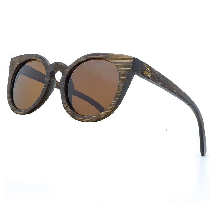 Amazon.com: Gafas de sol hechas a mano con marco de madera ...