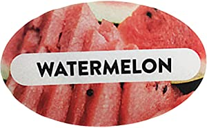 Watermelon Grocery Store Food Labels 1.25 x 2 Inch Oval Shape 500 Total Adhesive Stickers