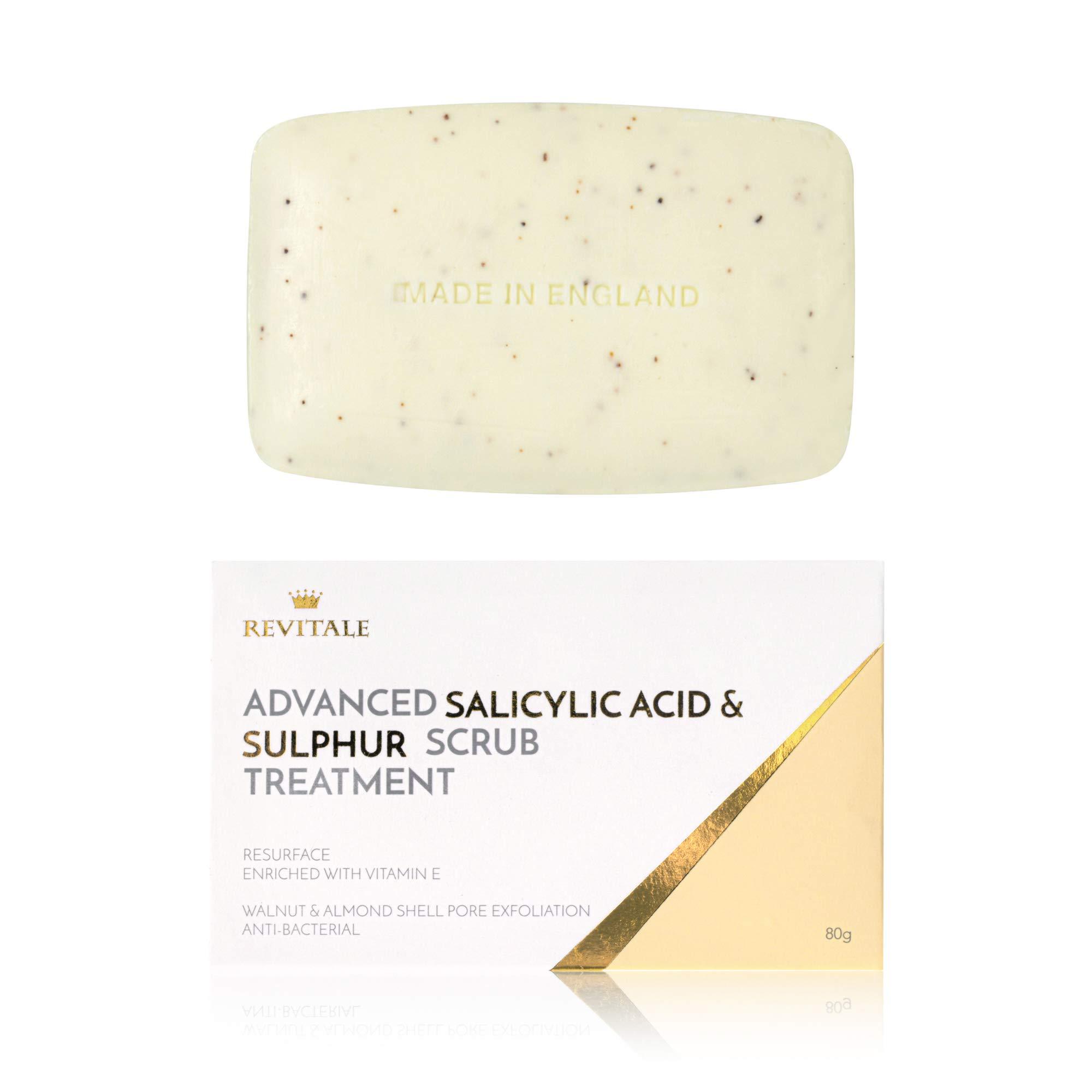 Revitale Advanced Salicylic Acid & Sulphur Scrub Treatment Soap
