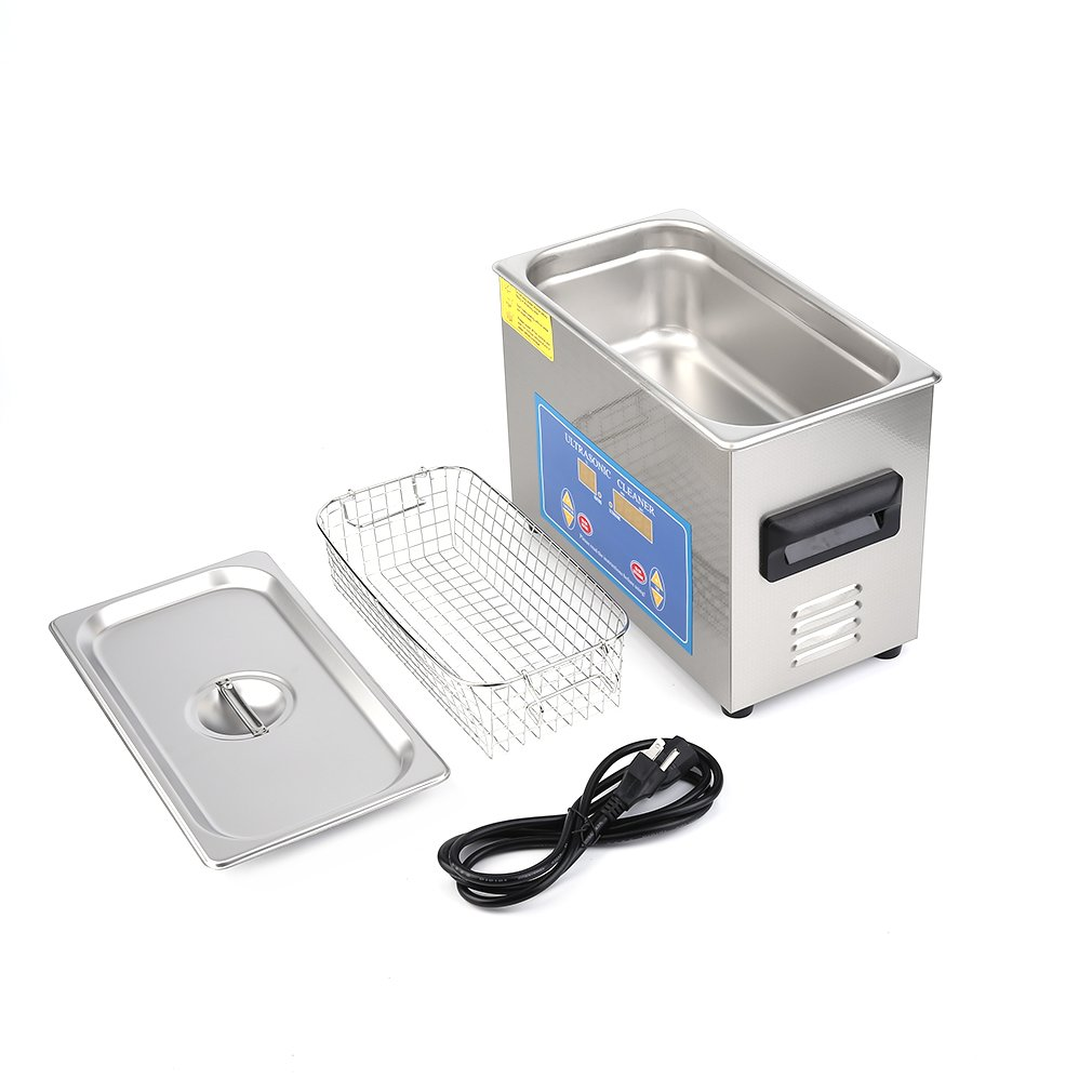 Homgrace Commercial Ultrasonic Cleaner with with Heater and Digital Control for Jewelry Watch Glasses Cleaner (4.5 L) by Homgrace