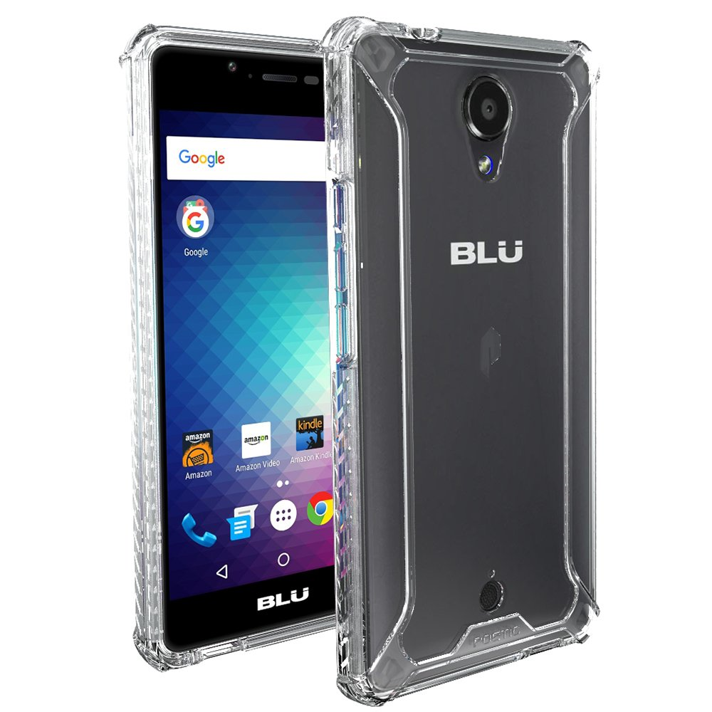 size 40 e0367 751a6 BLU R1 HD Case, POETIC Affinity Series Premium Thin/No Bulk/Slim  fit/Clear/Dual Material Protective Bumper Case for BLU R1 HD (2016)  Clear/Clear