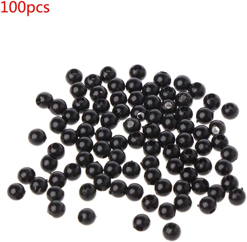 Kuvuiuee 100pcs 3-12mm Black Safety Doll Eyes Sewing Beads for DIY Bear Stuffed Toys Scrapbooking Crafts