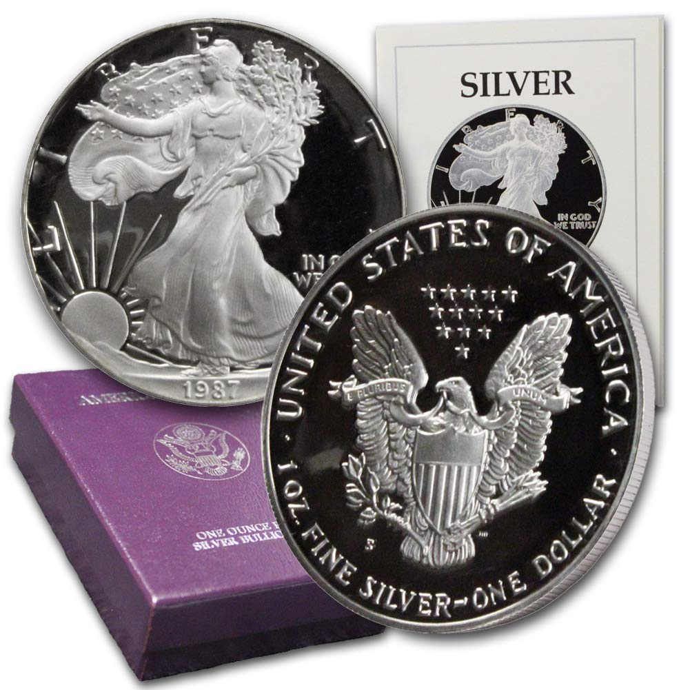 Silver Eagle Dollar Proof US Mint 1987 S American 1 oz