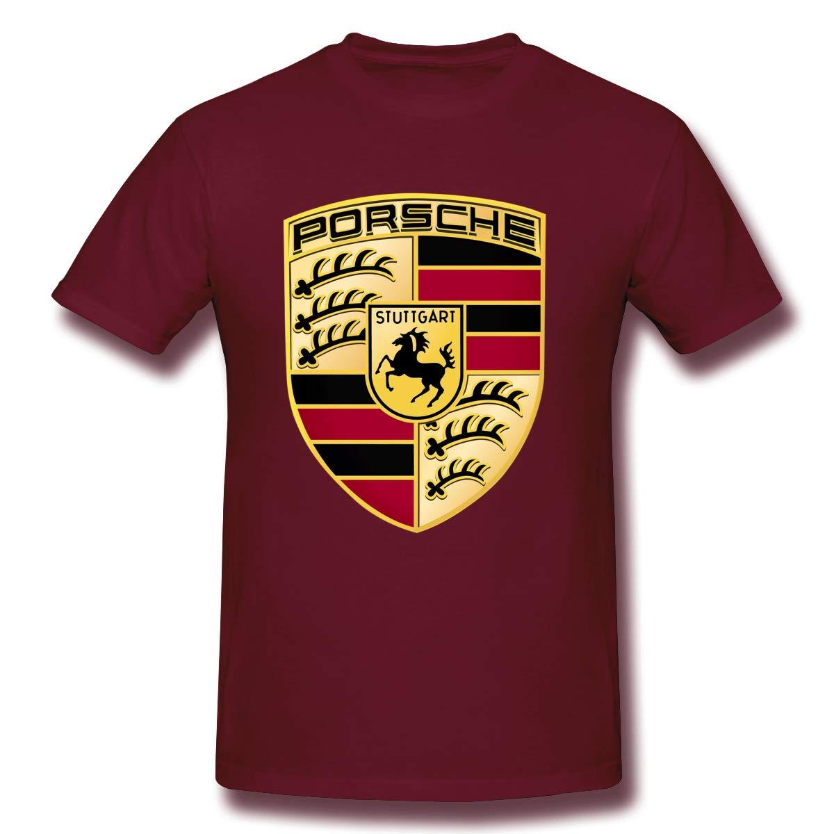 Zhyhang Adult Boys Ferdinand Porsche T Shirts Black