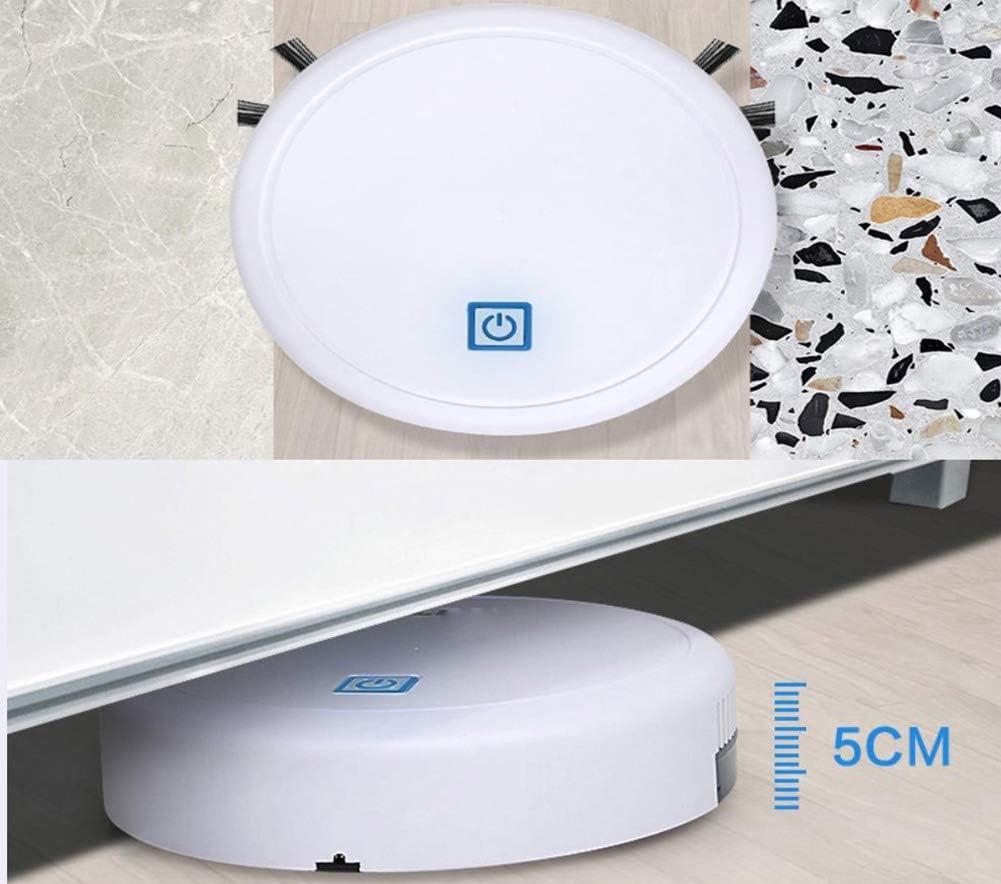 Wenhua Aspirateur Robot De Balayage Automatique 3-en-1 USB Rechargeable Smart Floor Mop Cleaning Home Office Cleaner Dry & Wet Sweeping Cleaner,Noir Black