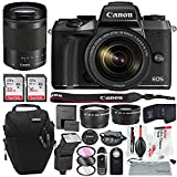 Canon EOS M5 Mirrorless Digital Camera with EF-M 18-150mm f/3.5-6.3 IS STM Lens Kit and Essential Accessories