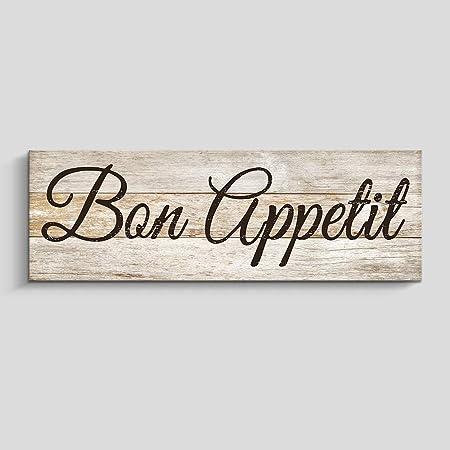 Amazon Com Rustic Kitchen Wall Decor Farmhouse Wall Art Kitchen Sign Home Decorations Bon Appetit Yellow Posters Prints
