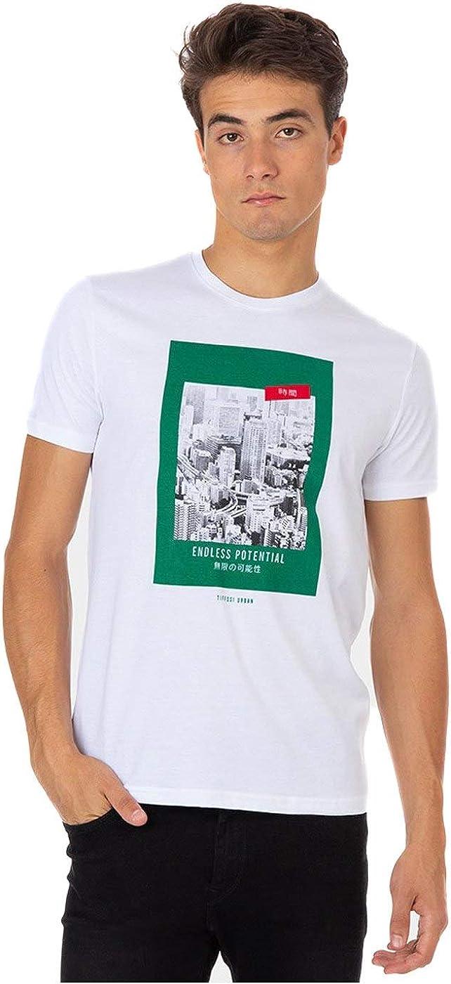 Tiffosi Arthur Camiseta 10029057 para Hombre L Blanco: Amazon.es: Ropa y accesorios