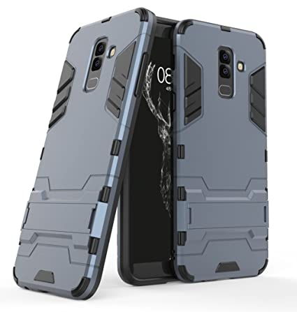 Samsung Galaxy J8 (2018) Case, FoneExpert Shockproof Rugged Impact Armor Slim Hybrid Kickstand Protective Cover Case for Samsung Galaxy J8 (2018)