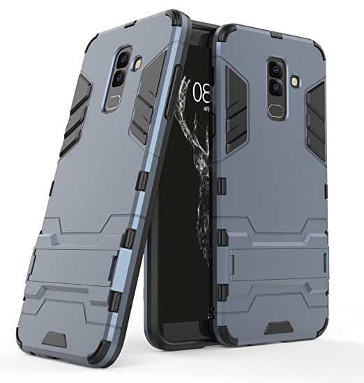 low priced a84eb 3b235 Samsung Galaxy J8 (2018) Case, FoneExpert Shockproof Rugged Impact Armor  Slim Hybrid Kickstand Protective Cover Case for Samsung Galaxy J8 (2018)