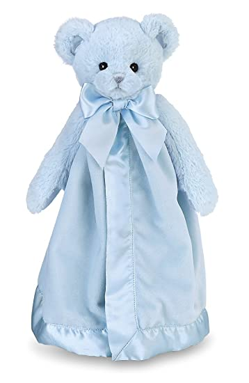 Amazon Com Bearington Baby Huggie Bear Snuggler Blue Teddy Plush