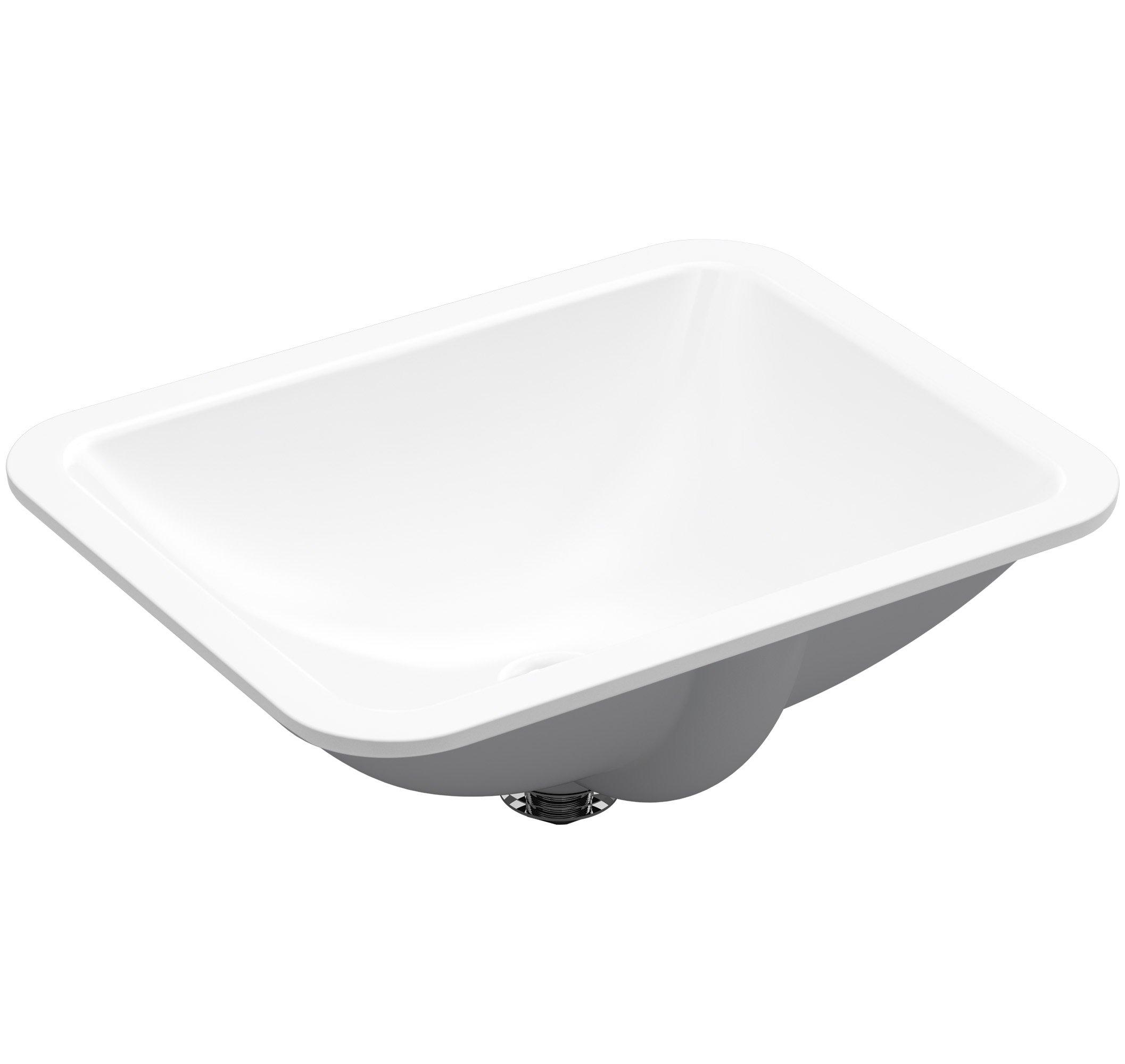 KOHLER K-20000-0 Caxton Rectangle 20-5/16 x 15-3/4 In. Undermount Bathroom Sink, White