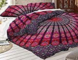 Mandala Quilt Cover , Queen Size Dona Cover Set, Indian Duvet set has Base on Mandala Pattern have been crafted