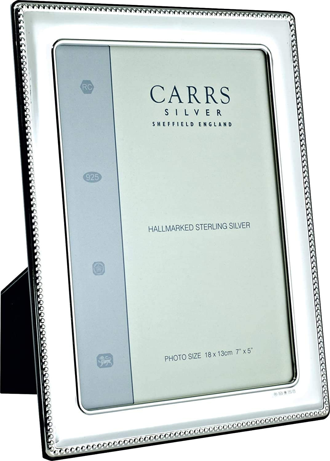 Carrs Silver Bead Edge Solid Silver Photo Frame 7 X 5 Can Stand Portrait Or Landscape Amazon Co Uk Kitchen Home