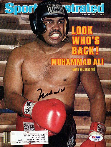 Muhammad Ali Signed Sports Illustrated Magazine - PSA/DNA...