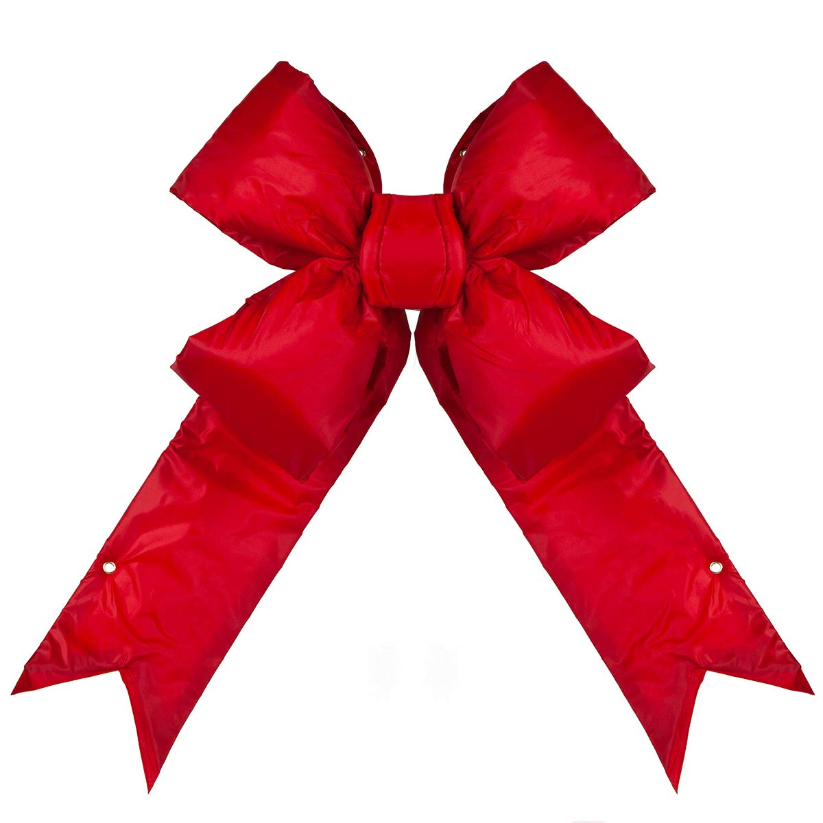 Big Red Bow - Large Outdoor Christmas Bow Commercial Christmas House Decorative Bow (24'', Red Structural 3D Nylon Bow)