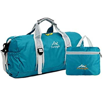 9e7d31a93d7e SUNVP Travel Duffel Bag for Women   Men - Nylon Foldable Duffle for Luggage  Gym Sports Gear Multifunctional Bag (Blue)  Amazon.ca  Sports   Outdoors