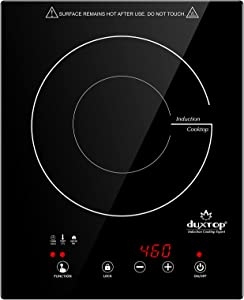 Duxtop Built-in Countertop Burner, Portable Induction Cooktop, Sensor Touch Induction Burner, 170-Minute Timer, Safety Lock, 1800W BT-200T1/8600BI
