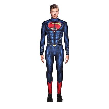 Leezeshaw - Disfraz de Superman para Hombre, Disfraz de ...