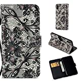 Firefish iPhone X Case,Pu Magnetic Flip Folio Wallet Case [Durable] Lightweight Kickstand Folding Case with Credit Card Holder Xmas Birthday Gift Compatible Apple iPhone X -Butterfly