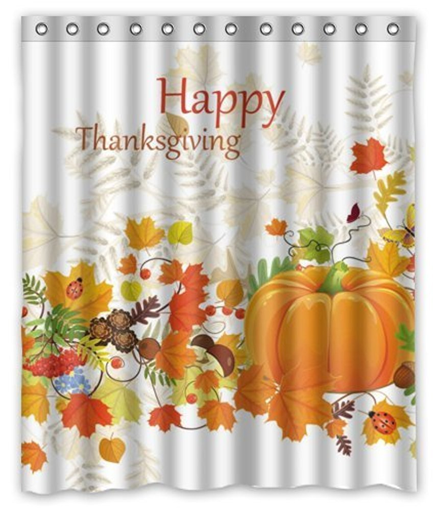 Happy Shopping Go Custom Happy Thanksgiving Waterproof Bathroom Fabric Shower Curtain 60