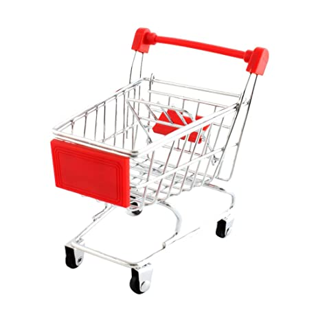 Mini Carro De Compras Carro De Juguete De Color Rojo