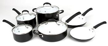 Oneida 10-Piece Aluminum PFOA/PTFE Free Nonstick Ceramic Cookware Set