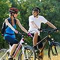KINGBIKE Adult/Youth Bike Helmet Safety Rear Led Light Helmet Rain Cover + Detachable Visor/Lightweight Helmet