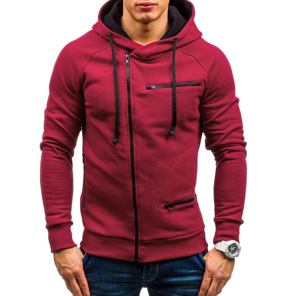 Amazon.com: BOOMJIU Zipper Sweatshirt,Mens Long Sleeve Casual Coat: Clothing