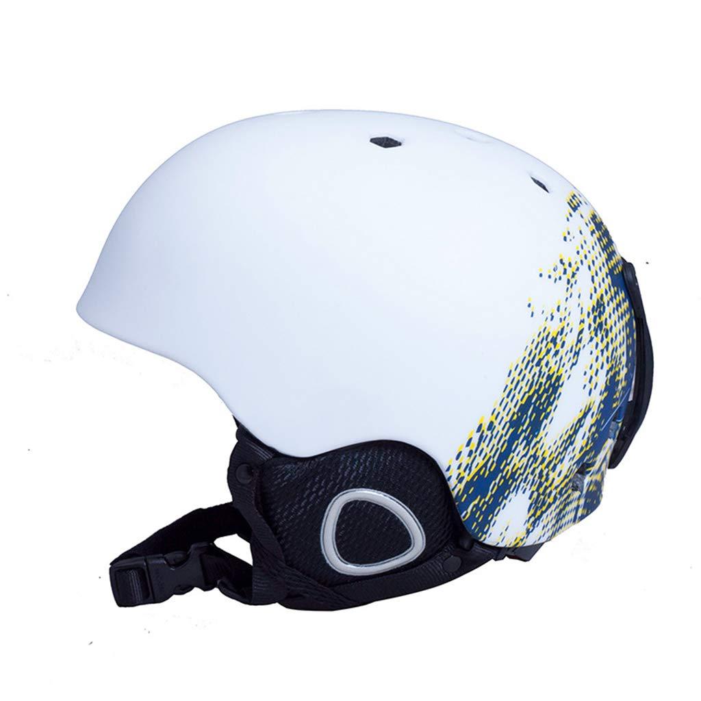 BLUEDYYY Skihelm Schnee Helm Skateboard Ski-Schutz-Fahrrad/Skateboard-Helm für Erwachsene Pendler Fahrrad Skate Breathable Bequem für Outdoor-Baseball,B,M