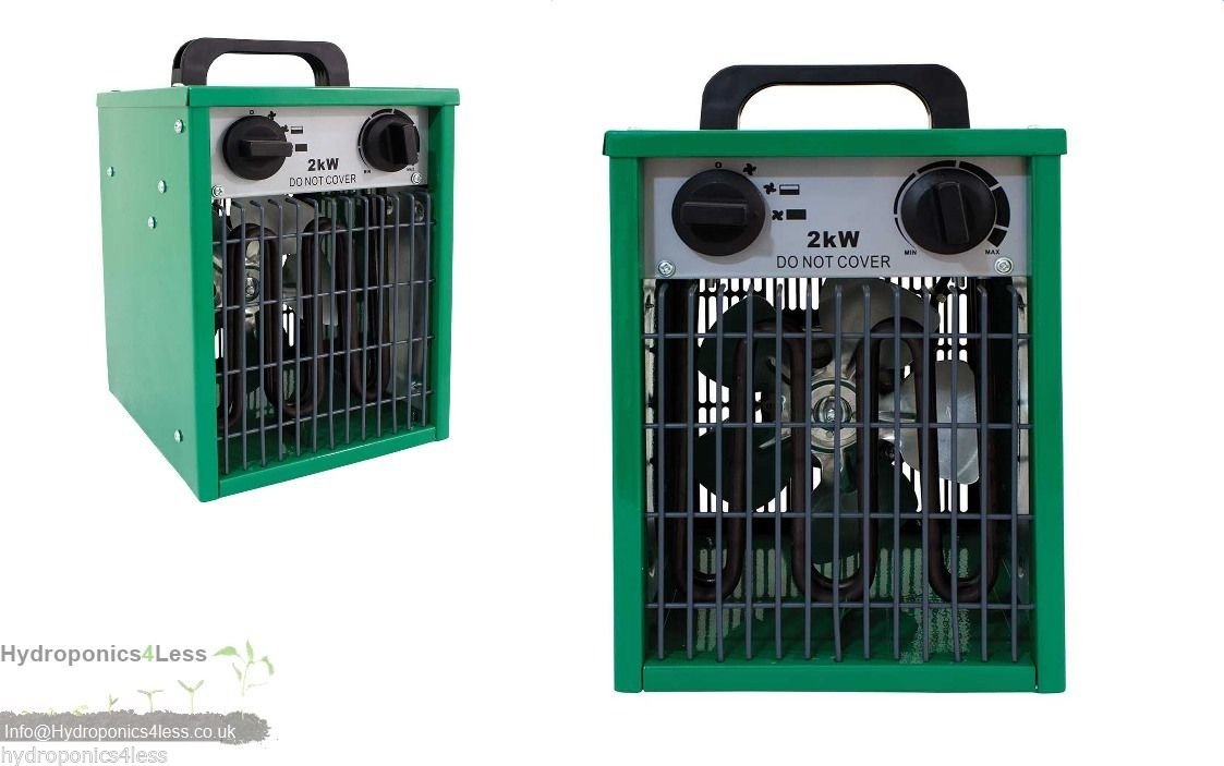 2kw Electric Greenhouse Heater Parasene 1kw or 2kw Modes Hydroponics Grow Tents hydroponics4less