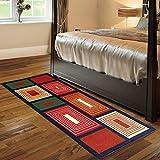 Wow Abstract Design Nylon Bed Side Runner ( 56x140 cm )