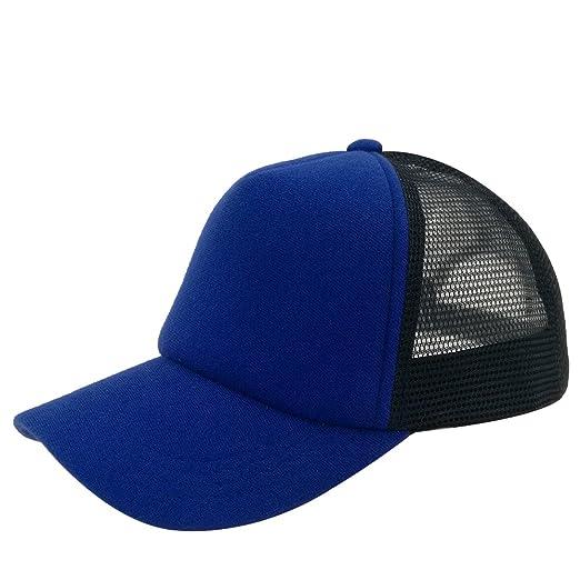 8cca720d8 Unisex Snapback Plain Cotton Baseball Cap With Adjustable Blank Blue ...