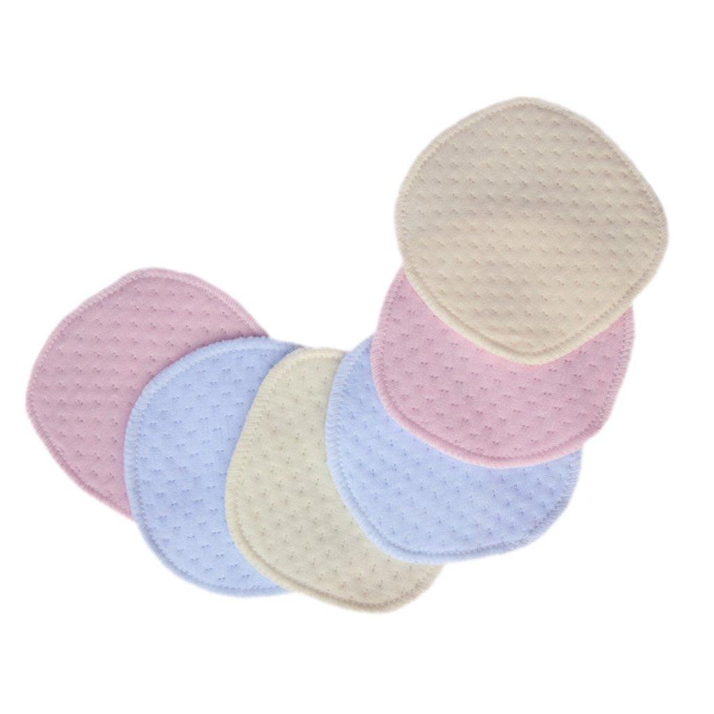 6pcs Coussinets dAllaitement Bambou Coton Bio 3 Couches Lavables R/éutilisable Imperm/éable pr Maman