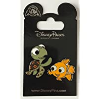 Disney Pin 108603 Nemo and Squirt 2 pin set Finding Nemo Turtle