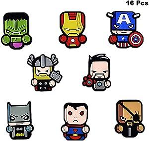 Finduat 16 Pcs The Avengers Fridge Magnets - Marvel Heroes, Office Magnets,Calendar Magnet,Whiteboard Magnets,Perfect Decorative Magnet