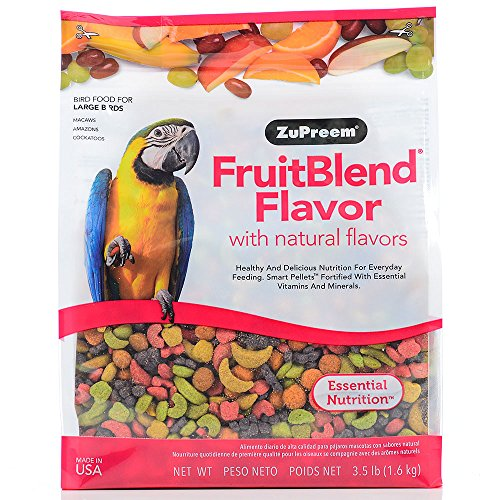 Zupreem 230342 Fruitblend Large Parrot Food, 35-Pound