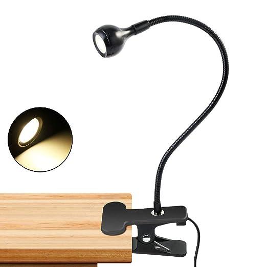 Jinxuny Lámpara de Mesa Flexible Clip-on USB Sensor Recargable ...