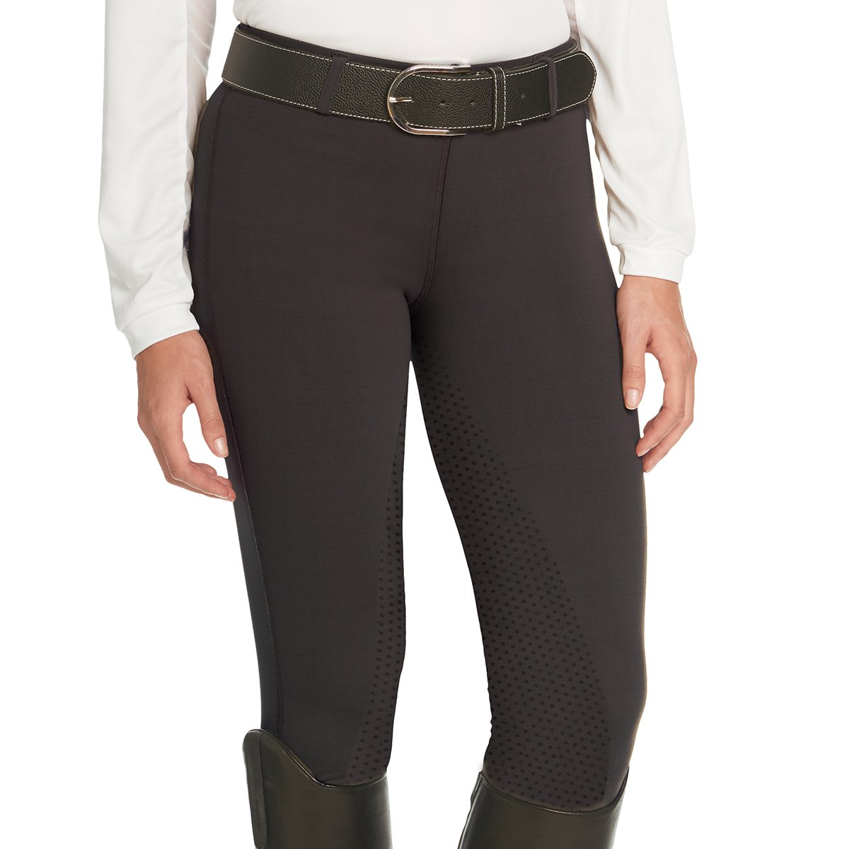 Ovation Ladies aerowickフルシートBreech B06XYRKNJJ Large (30)|ブラック ブラック Large (30)